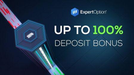 ExpertOption स्वागत संवर्धन - $ 500 तक 100% जमा बोनस