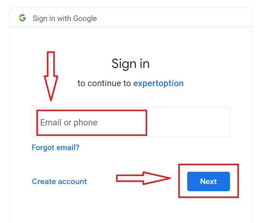 खाता कैसे खोलें और ExpertOption में साइन इन करें